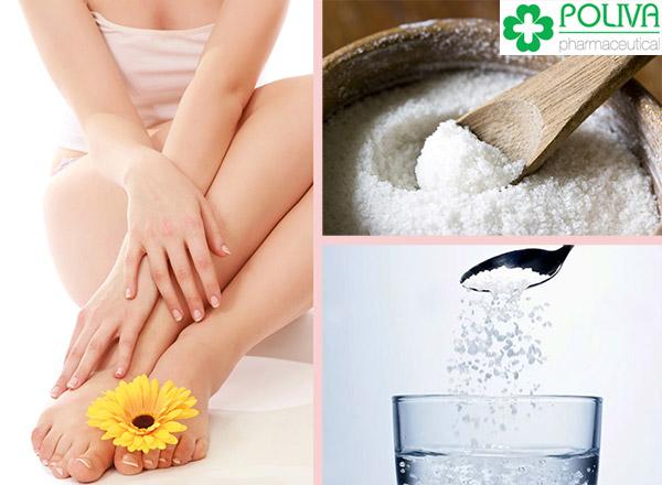 Dung dịch muối pha loãng có tính làm sạch, sát khuẩn.