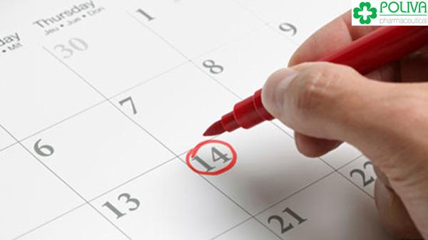 Ngày thứ 14 của chu kỳ kinh nguyệt được coi là dấu mốc quan trọng.