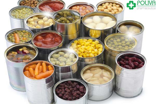 Thực phẩm đóng hộp là tác nhân gây hại tinh trùng.