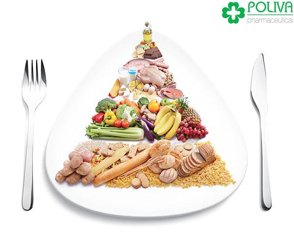 Xây dựng chế độ ăn uống có lợi cho sức khỏe.