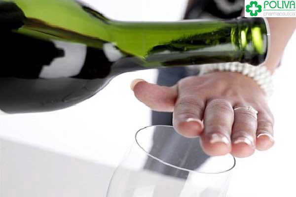 Từ chối rượu bia là người đàn ông khôn ngoan.