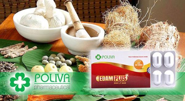 Thành phần của Poliva Edam Plus có chứa nấm ngọc cẩu tự nhiên
