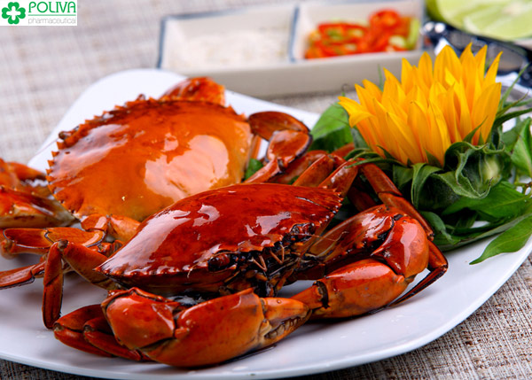 Cua biển hấp là món ăn được nhiều người yêu thích