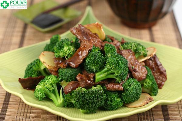 Bông cải xanh xào thịt bò - món ăn tốt cho nam giới.