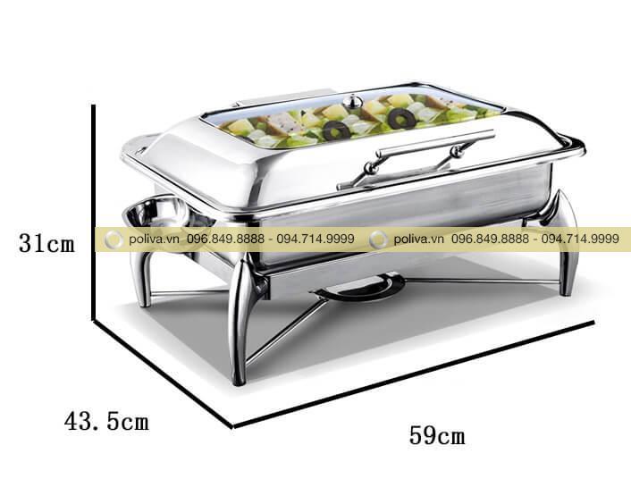 Hình ảnh thực tế nồi hâm buffet hình chữ nhật