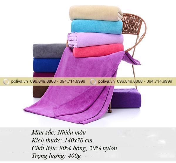Kích thước khăn tắm 70 x 140 cm