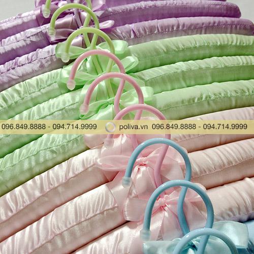Móc áo lụa nhiều màu