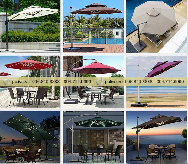 Poliva sở hữu rất nhiều mẫu ô dù che nắng ngoài trời đẹp, chất lượng tốt