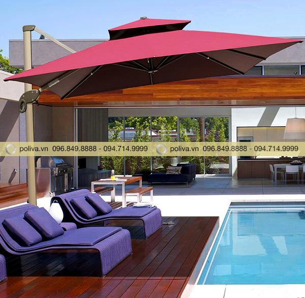 Mẫu ô dù được sử dụng nhiều tại khách sạn, resort cao cấp
