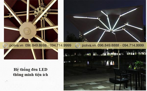 Đèn LED cao cấp sử dụng không gian buổi tối rất thích hợp