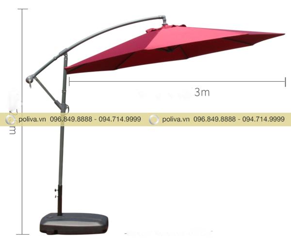 Kích thước ô dù che nắng ngoài trời
