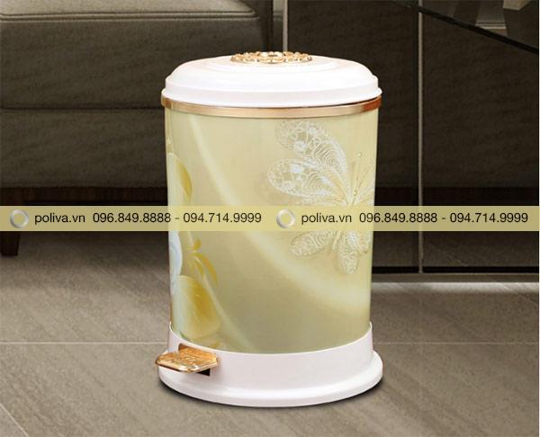 Thùng rác dung tích 9L có thể đặt ở chân bàn