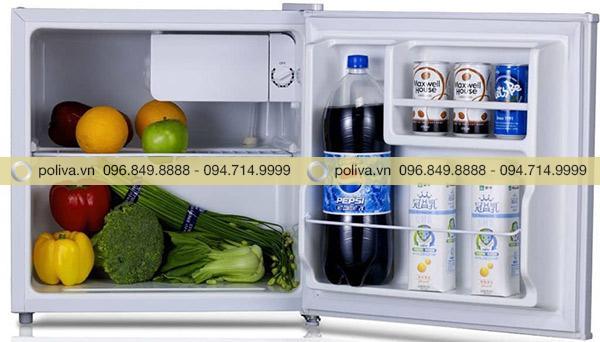 Kết cấu bên trong tủ lạnh mini