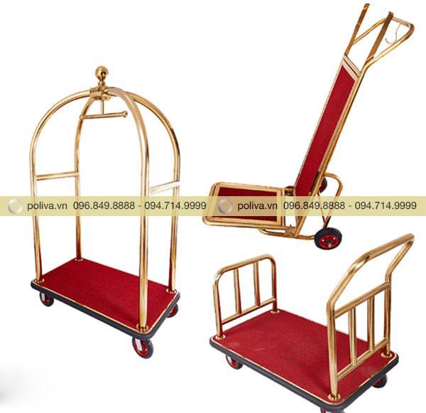 Poliva sở hữu rất nhiều mẫu xe đẩy khách sạn Inox mạ vàng