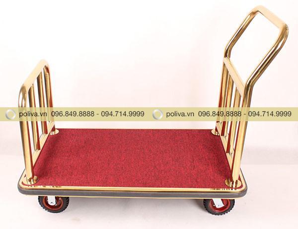 Xe kéo khung Inox mạ vàng tông màu sáng bóng, đẹp không tì vết