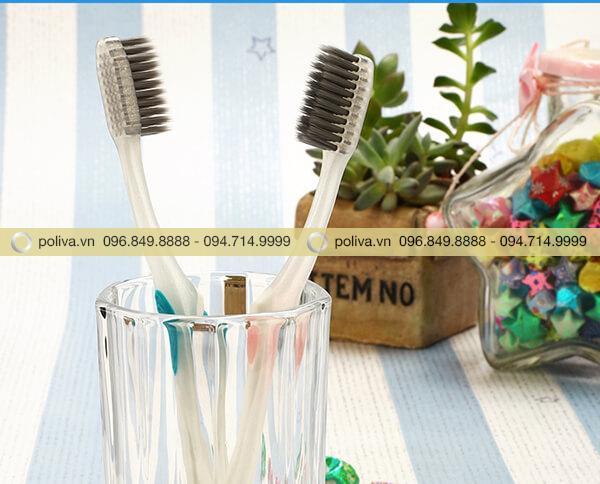 Bàn chải đánh răng được sản xuất công nghệ than hoạt tính