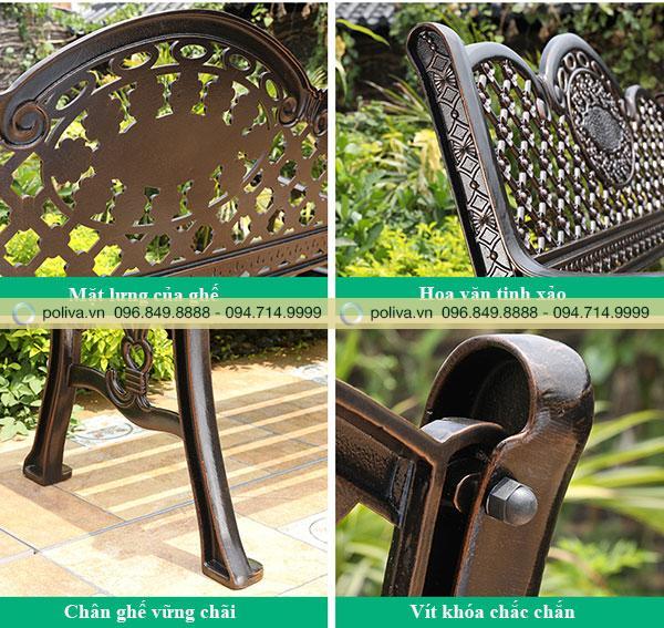 Mỗi chi tiết trên ghế đều được trau chuốt tỉ mỉ