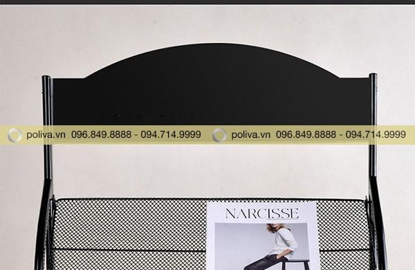 Phần đầu kệ có thể để nguyên hoặc thêm logo theo ý muốn của khách hàng
