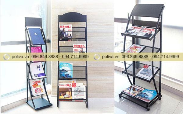 Poliva cung cấp những mẫu kệ để sách báo chất lượng