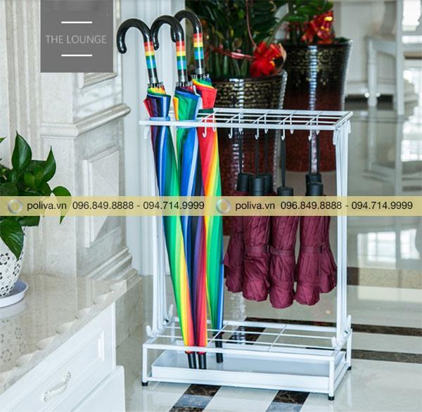 Giá để dù màu trắng