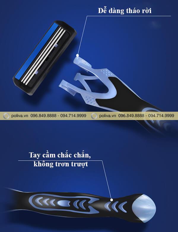 Cán dao chắc chắn, chống trơn trượt, kiểu dáng hiện đại