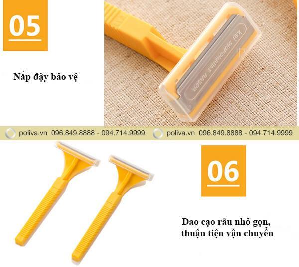Nắp nhựa trong suốt đảm bảo an toàn, thiết kế tay cầm nhỏ gọn, tiện lợi