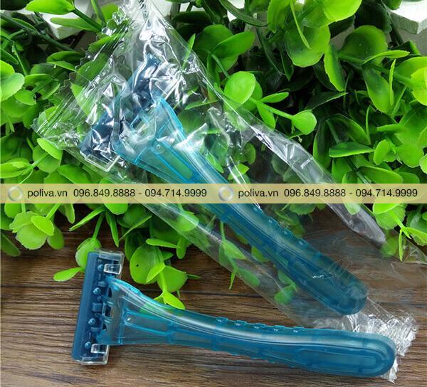 Dao cạo râu trong bao bì nilon đảm bảo vệ sinh cho người sử dụng