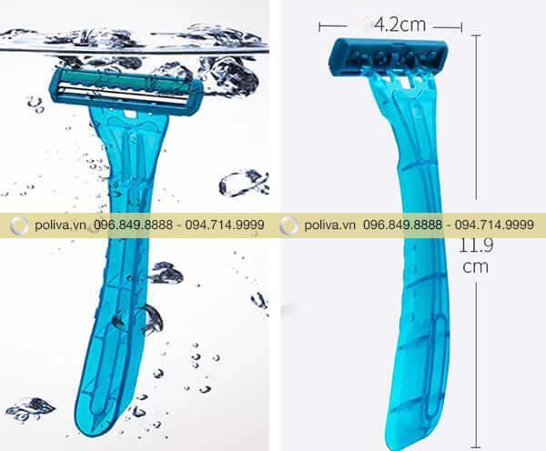 Với kích thước nhỏ gọn, thiết kế tinh tế, dao cạo râu sử dụng một lần được nhiều khách hàng lựa chọn sử dụng