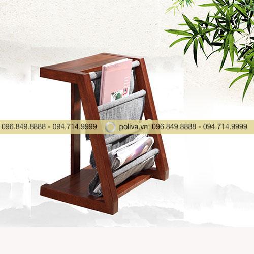 Kệ để sách báo bằng gỗ