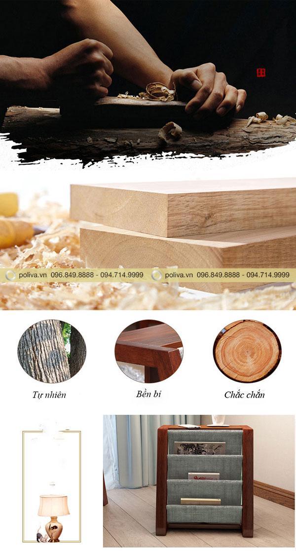 Chất liệu gỗ cao cấp giúp sản phẩm bền đẹp, tuổi thọ cao