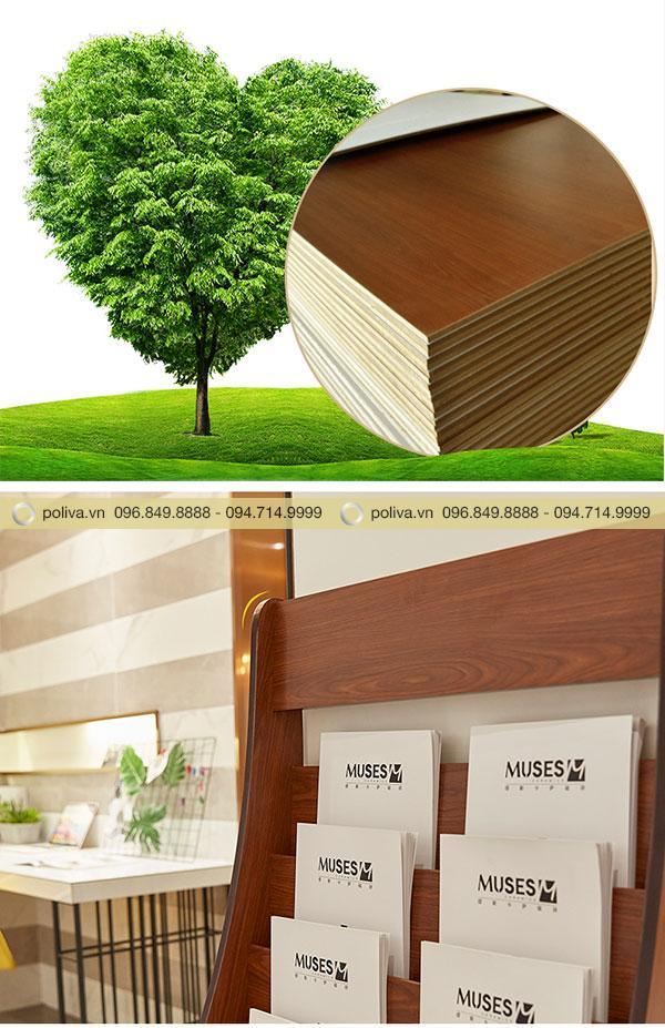 Chất liệu gỗ MDF cấu thành sản phẩm
