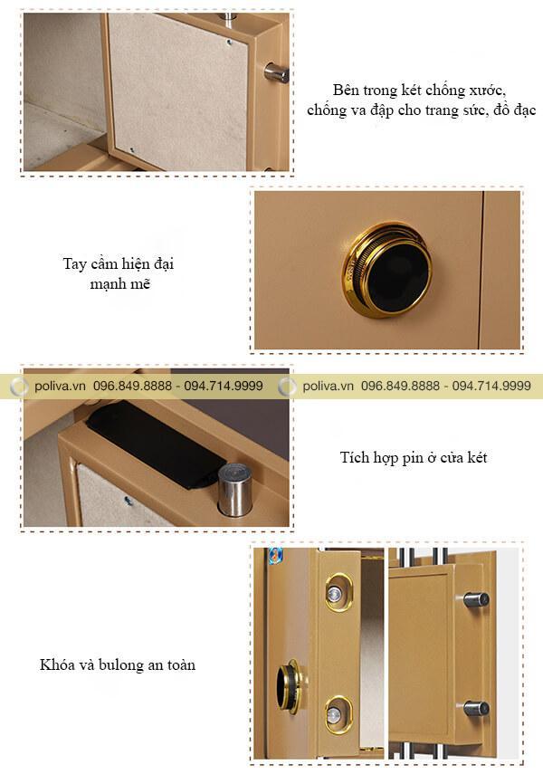 Mô tả chi tiết cấu tạo két sắt mini