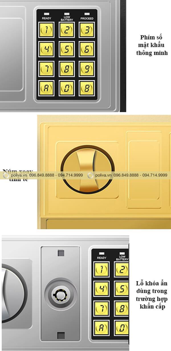 Cơ chế đóng - mở và cấu tạo ổ khóa của két sắt
