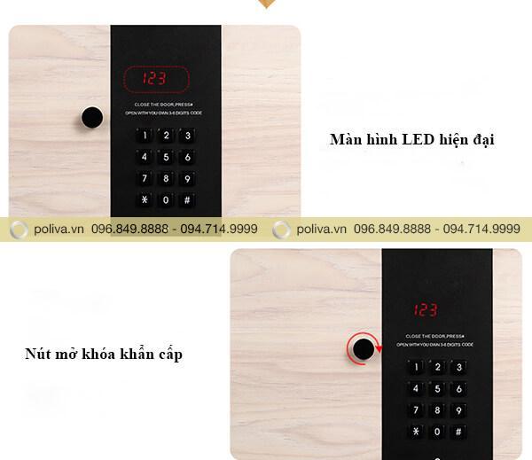 Bề mặt mã số khóa điện tử hiện đại, cao cấp