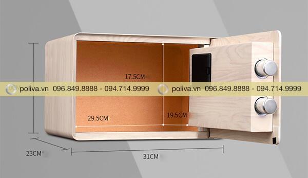 Kích thước bên ngoài và bên trong của két sắt mini khách sạn