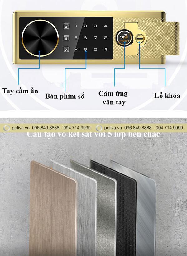 Cấu tạo vỏ và cơ chế hoạt động của két sắt mini