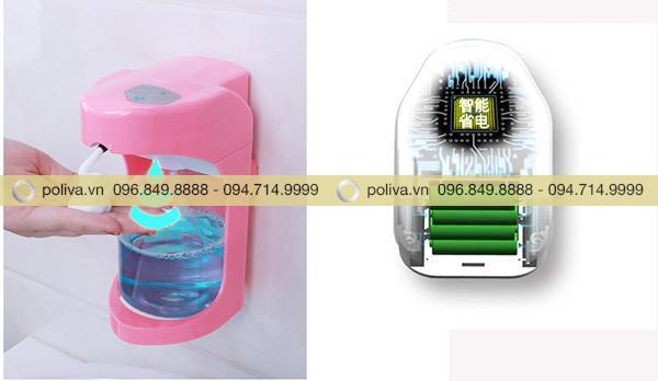 Mẫu bình đựng hoạt động trên cơ chế cảm ứng tạo bọt dung dịch rửa tay