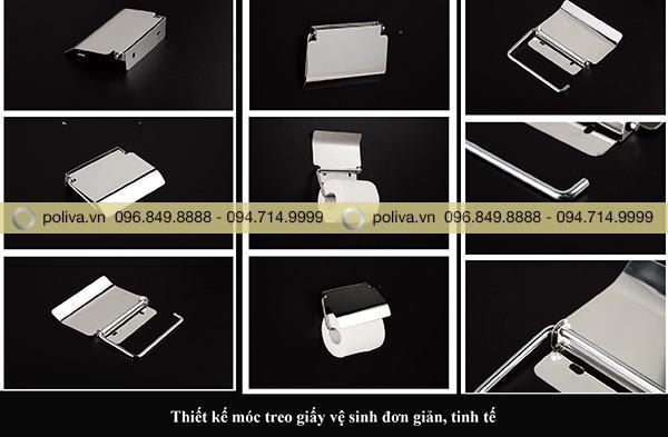 Hình ảnh chi tiết kệ để giấy vệ sinh inox 304