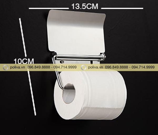 Kích thước chi tiết móc treo giấy vệ sinh inox cao cấp