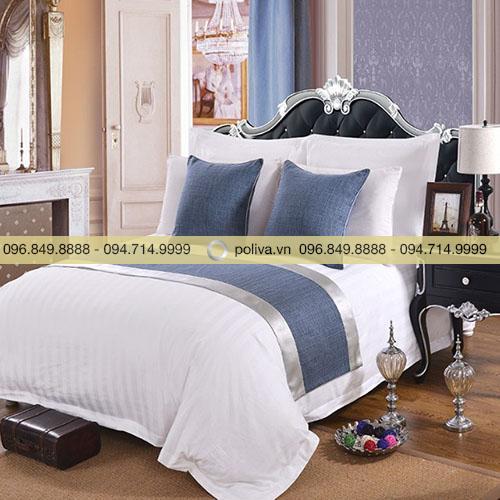 Tấm trang trí giường màu xanh