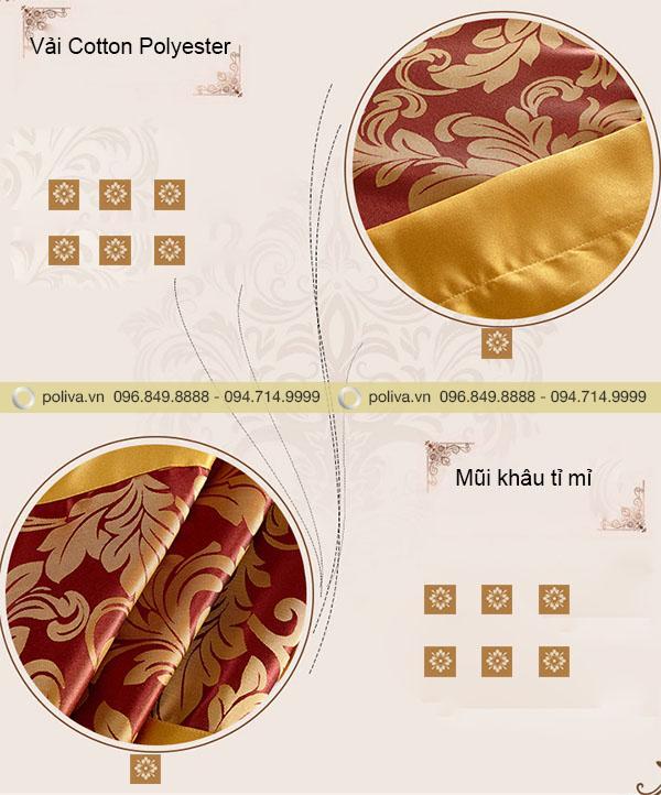 Những đường nét tinh tế trên nền vải Cotton Polyester