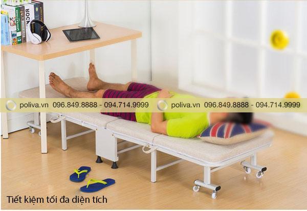 Sản phẩm giường gấp gọn extra có thể sử dụng ở nhiều nơi