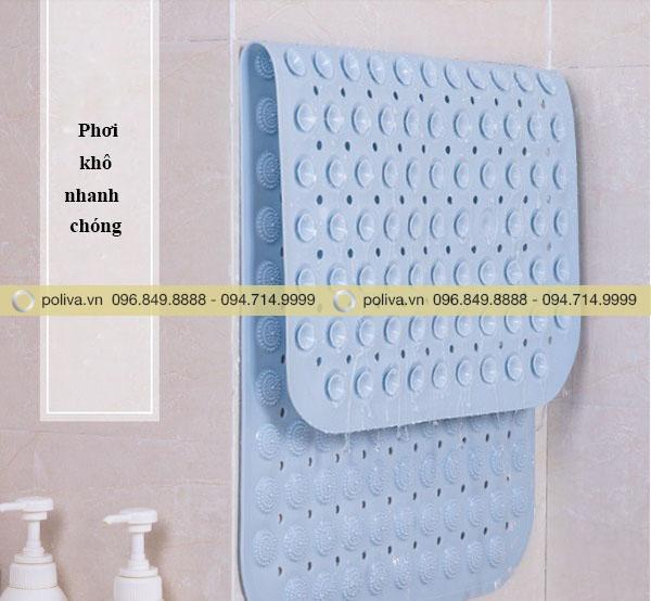 Khi không dùng có thể giặt và phơi khô rất nhanh