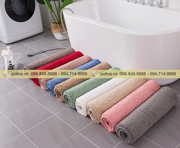 Thiết kế thảm chùi chân có nhiều màu sắc cho khách hàng chọn lựa