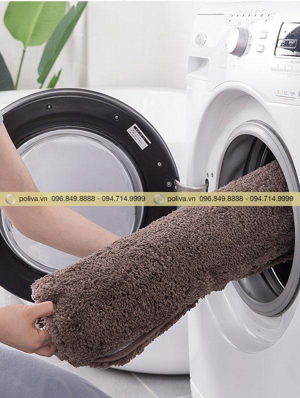 Sản phẩm có thể thoải mái giặt tay lẫn giặt máy