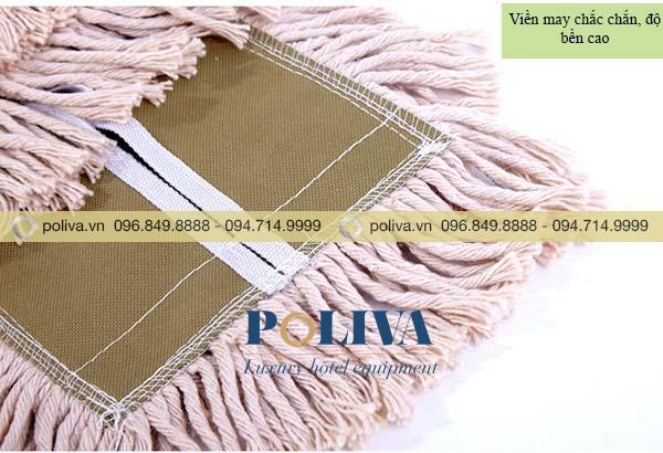 Bông lau thấm nhanh, sạch, không để lại sợi vải trên mặt sàn