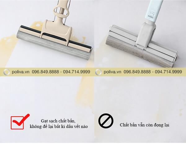 Sản phẩm giúp lau sạch sẽ các vết nước, vết bẩn trên sàn nhà