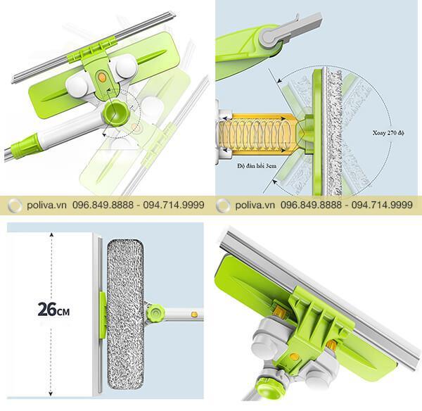 Mô tả chi tiết các bộ phận của cây lau kính chuyên dụng
