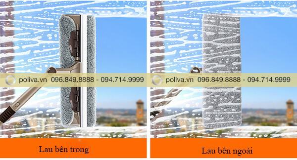 Lau mặt trong và mặt ngoài cửa sổ dễ dàng