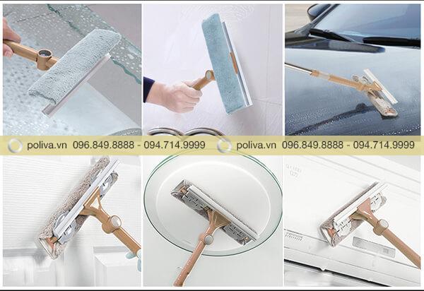 Cây lau kính nối dài sử dụng đa năng, làm sạch bề mặt nhanh chóng